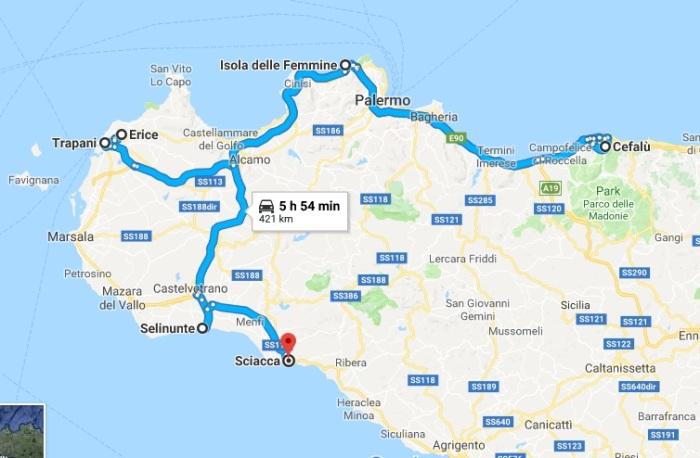 sicilia itinerar